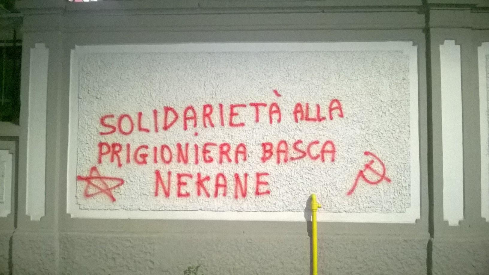 Solidarity for Nekane in Milan