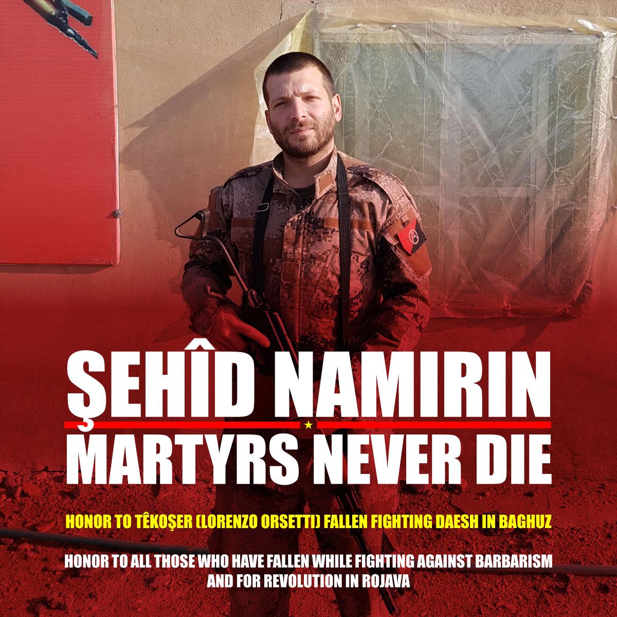 Deux camarades, hommage à Tekoşer et Baran